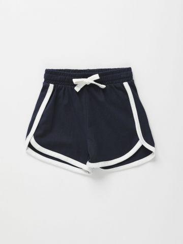 מכנסי טרנינג קצרים עם שוליים מודגשים / 3M-3Y של FOX