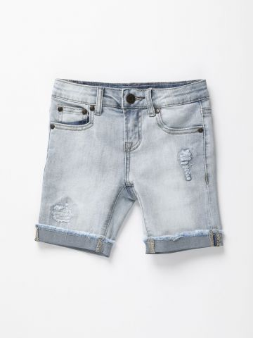 מכנסי ג'ינס קצרים עם קרעים / בנים של AMERICAN EAGLE