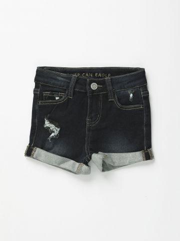 מכנסי ג'ינס קצרים עם קיפול בסיומת / בנות של AMERICAN EAGLE