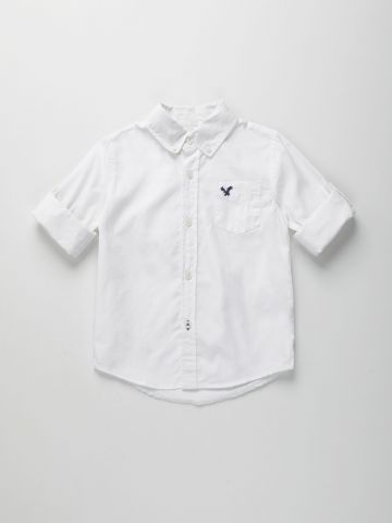 חולצה מכופתרת עם רקמת לוגו / בנים של AMERICAN EAGLE