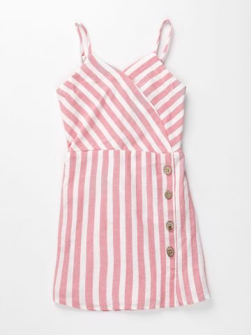 שמלת מעטפת בהדפס פסים / בנות של AMERICAN EAGLE