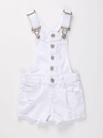 אוברול ג'ינס קצר עם קרעים / בנות של AMERICAN EAGLE