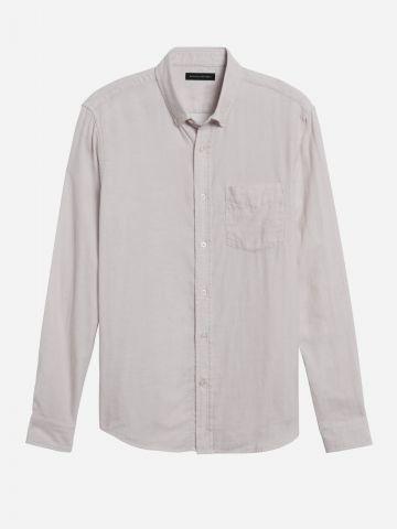 חולצה מכופתרת עם כיס Slim / גברים של BANANA REPUBLIC