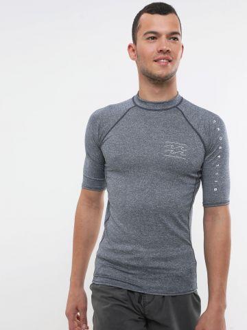 חולצת גלישה מלאנז' עם לוגו של BILLABONG