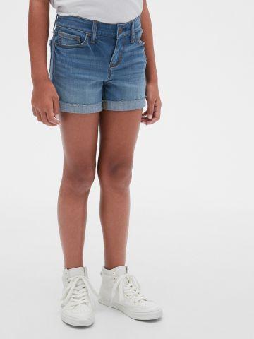 מכנסי ג'ינס קצרים בשטיפה כהה של GAP
