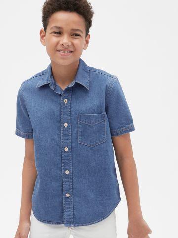 חולצת ג'ינס מכופתרת של GAP