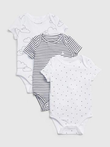 מארז 3 בגדי גוף בהדפסים / 0-24M של GAP