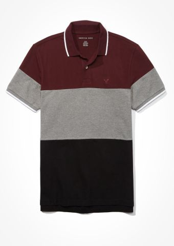 חולצת פולו קולור בלוק / גברים של AMERICAN EAGLE