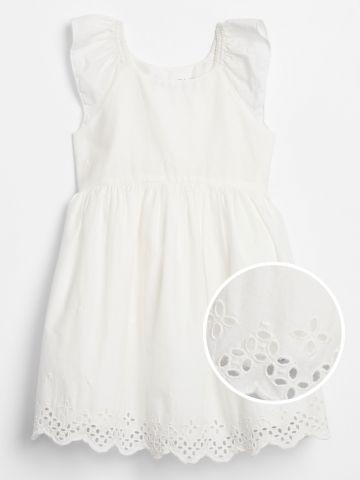 שמלה עם רקמת פרחים / בייבי בנות של GAP