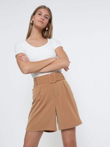 מכנסי ברמודה עם חגורה של TERMINAL X