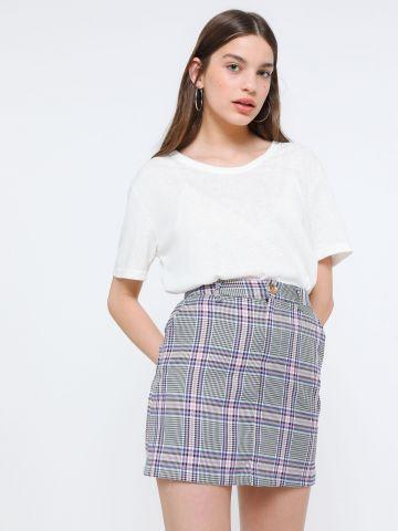חצאית מיני בהדפס פפיטה של TERMINAL X