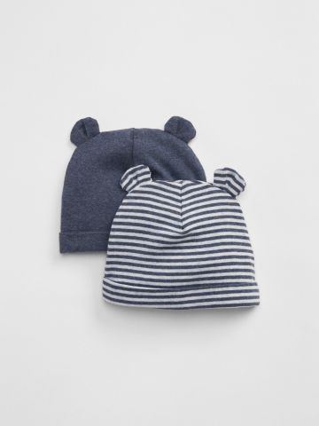 מארז 2 כובעי גרב עם אוזניים / בייבי בנים של GAP