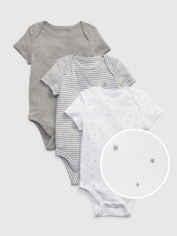 מארז 3 בגדי גוף בהדפס / 0-24M של GAP
