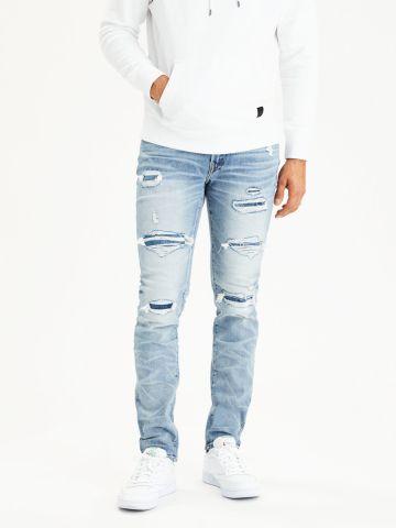 ג'ינס סלים עם קרעים Airflex Slim של AMERICAN EAGLE