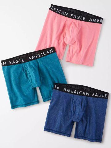 מארז 3 תחתוני בוקסר בהדפסים שונים / גברים של AMERICAN EAGLE