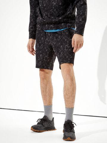 מכנסי טרנינג קצרים בהדפס של AMERICAN EAGLE