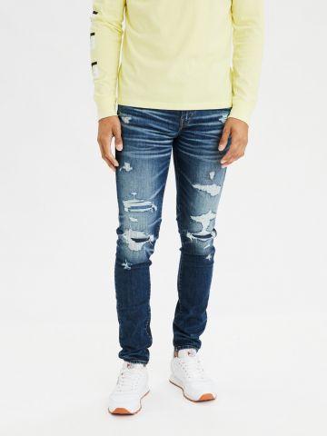 ג'ינס סקיני עם קרעים Airflex Skinny של AMERICAN EAGLE