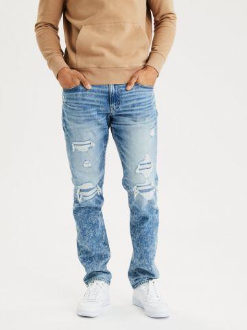 ג'ינס סלים עם הלבנה וקרעים Airflex Slim של AMERICAN EAGLE