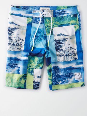 מכנסי בגד ים בהדפס תמונות נוף / גברים של AMERICAN EAGLE