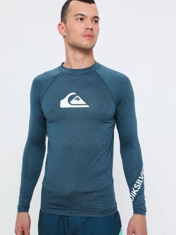 חולצת גלישה מלאנז' עם לוגו של QUIKSILVER