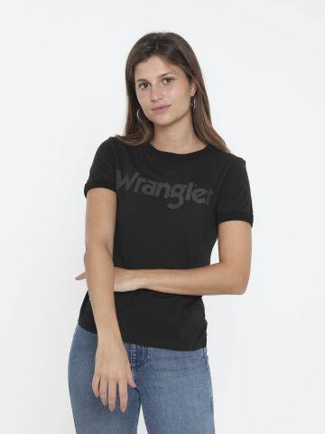 טי שירט עם הדפס לוגו של WRANGLER