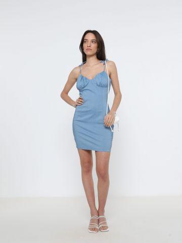 שמלת מיני עם כתפיות קשירה של TERMINAL X