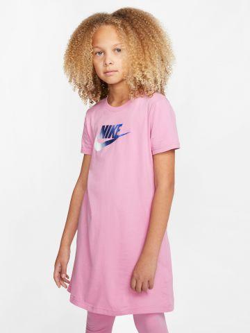 שמלה עם הדפס לוגו של NIKE