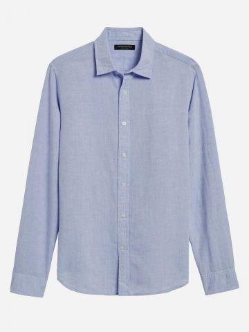 חולצת פשתן מכופתרת Standard Fit / גברים של BANANA REPUBLIC