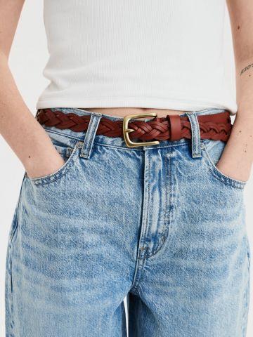 חגורת עור קלועה / נשים של AMERICAN EAGLE