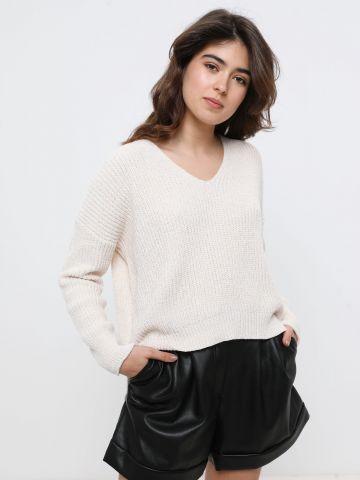 סוודר שניל עם חוט מטאלי של YANGA