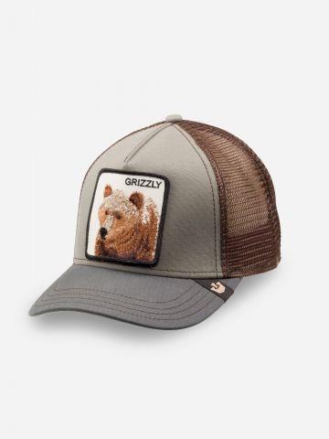 כובע מצחייה עם פאץ' כלב Grizzly / בנים של GOORIN BROS