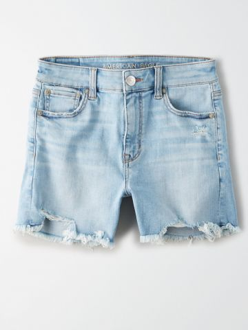 ג'ינס קצר עם סיומת פרומה / נשים של AMERICAN EAGLE
