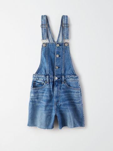 אוברול ג'ינס קצר בגזרה Mom / נשים של AMERICAN EAGLE