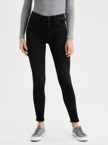 ג'ינס קרופ סקיני סטרץ' Super Hi Rise Jegging של AMERICAN EAGLE