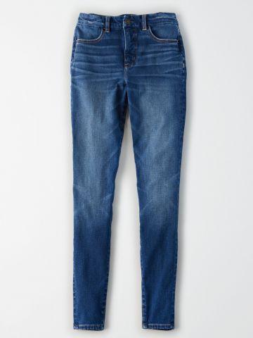 ג'ינס סקיני עם הבהרה Curvy Hi-Rise Jegging / נשים של AMERICAN EAGLE