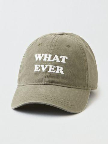 כובע מצחייה עם רקמת Whatever / נשים של AMERICAN EAGLE