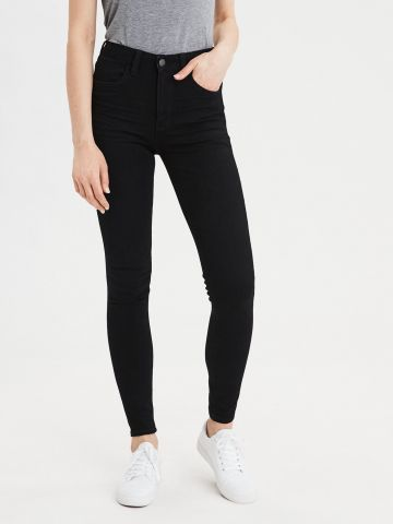 ג'ינס סקיני סטרץ' בגזרה גבוהה של AMERICAN EAGLE