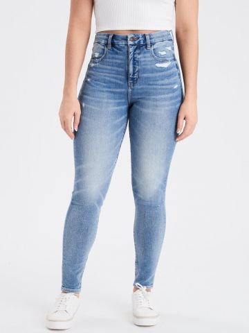 ג'ינס סקיני עם הבהרה של AMERICAN EAGLE