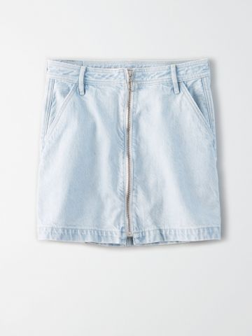 חצאית ג'ינס מיני עם רוכסן / נשים של AMERICAN EAGLE