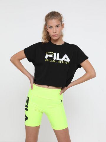 טי שירט קרופ עם הדפס לוגו של FILA