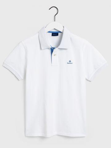חולצת פולו עם רקמת לוגו / גברים של GANT