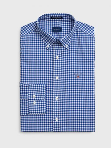 חולצת מכופתרת בהדפס משבצות Slim Fit / גברים של GANT