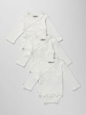 מארז 3 בגדי גוף חלקים / N.B-6M של TERMINAL X KIDS