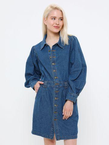 שמלת ג'ינס מיני עם שרוולים ארוכים של YANGA
