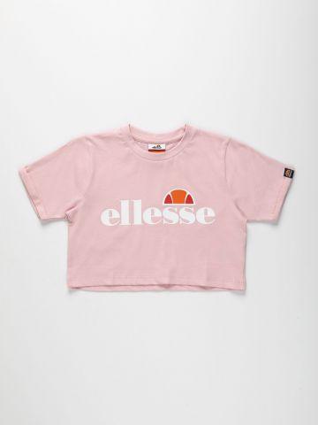 טי שירט קרופ עם לוגו / בנות של ELLESSE