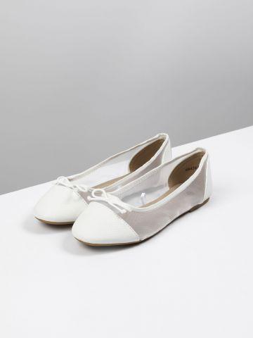 נעלי בובה בשילוב רשת / בנות של FOX