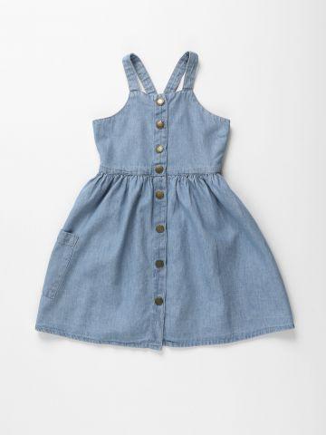 שמלת ג'ינס מיני מכופתרת / בנות של FOX