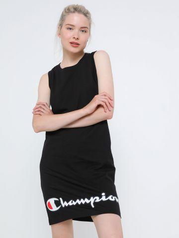 שמלת מיני עם הדפס לוגו של CHAMPION