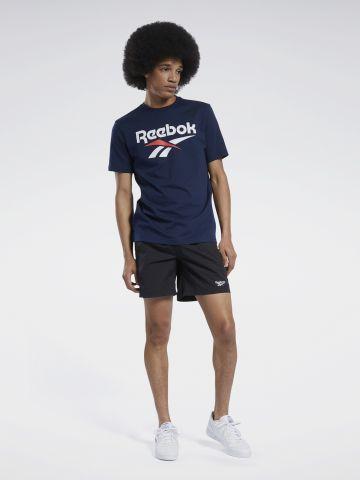 מכנסיים קצרים עם רקמת לוגו של REEBOK