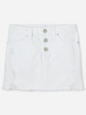 חצאית ג'ינס מיני עם כפתורים / בנות של THE CHILDREN'S PLACE